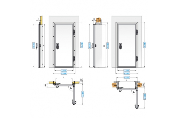 Hinged 1 leaf doors INCOLD