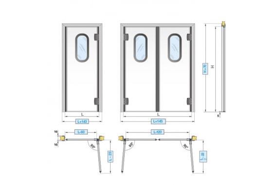 Swinging doors INCOLD