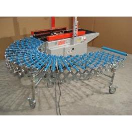 Телескопический роликовый конвейер