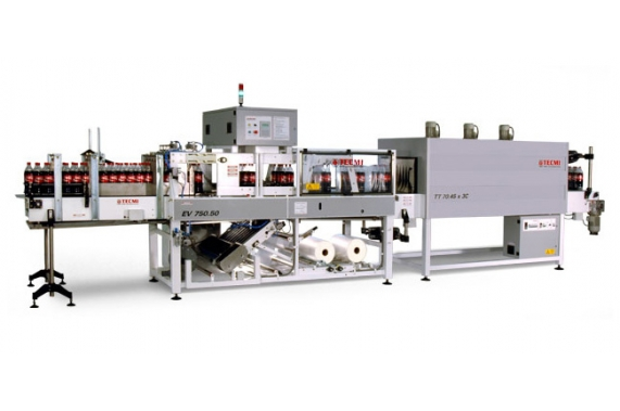 50-100 ppm shrink-wrapping machine (film, film + pad | tray) EV75-50 Tecmi