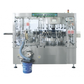 3000 bph labelling machine cold glue Mega Static 623CH BRB Globus
