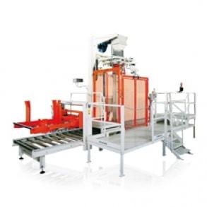BB equipped series weighing-bagging machine
