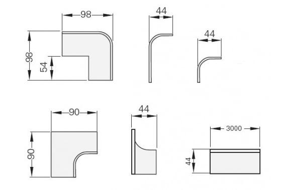 Profiles, corners and recoils UNI-TECH