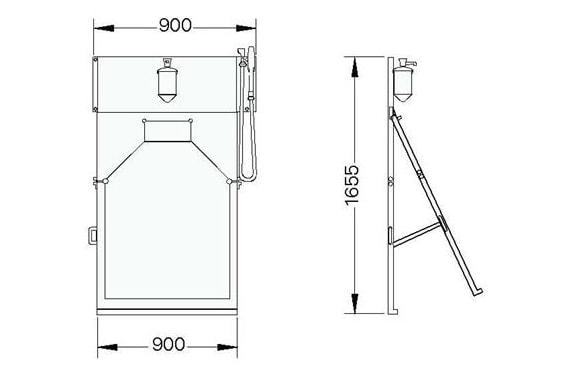 Manual apron washer UNI-TECH