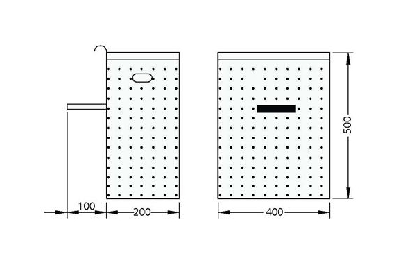 Perforated waster paper basket UNI-TECH