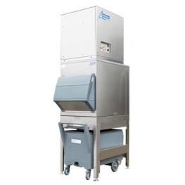 750kg flake ice machine with 200kg elevated bin and cart Ziegra