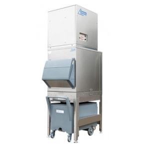 750 kg flake ice machine with 200kg elevated bin and cart Ziegra