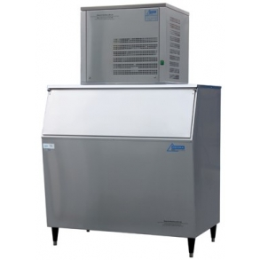 250 kg flake ice machine with 280kg slope fronted bin Ziegra