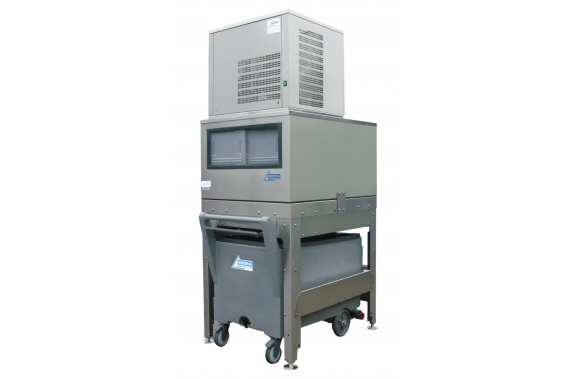 125 kg Nugget Ice Machine with 150 kg elevated bin and cart Ziegra