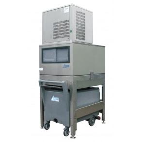 250 кг в сутки генератора гранулированного льда с верхним накопителем 150 кг и тележкой Ziegra