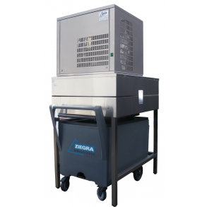 350 kg flake ice machine with frame and cart Ziegra