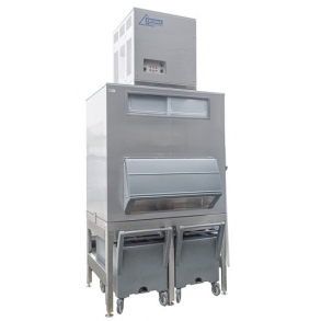 1,000kg Nugget Ice Machine with 630kg Elevated Ice Bin Ziegra