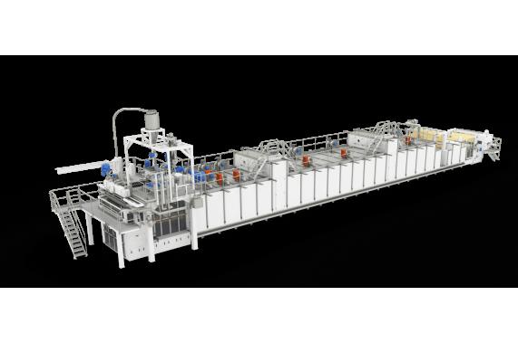 Monotier long-cut pasta line from 1000 kg/hour LPL AXOR OCRIM