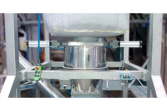 Reusing flour big bags system CEPI