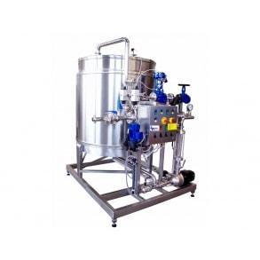 1.500 lit Single-station CIP steam-heating e ozonized IDROINOX