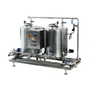 Two-station CIP with steam-heating for small production IDROINOX