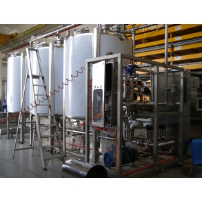 Three-station, 5000lit/each, CIP steam-heating IDROINOX