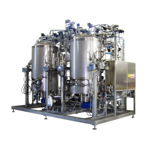 Skid with two preparation fermenters IDROINOX