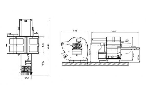 Automac 55 Più, чертежи - Gruppo Fabbri