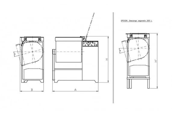 Kneader-mixer AM-250 CASTELLVALL