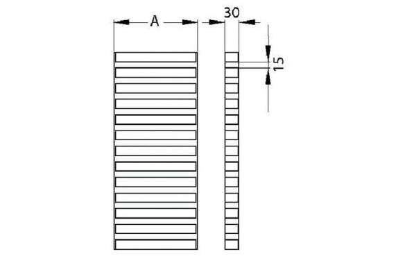 Invert U grating stainless steel UNI-TECH