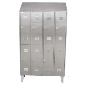 Small doors lockers with vertical division UNI-TECH