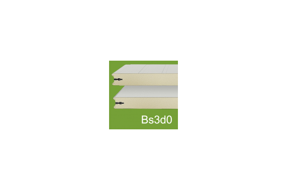 Sandwich panels with male female junction PGS112G-BS3 INCOLD