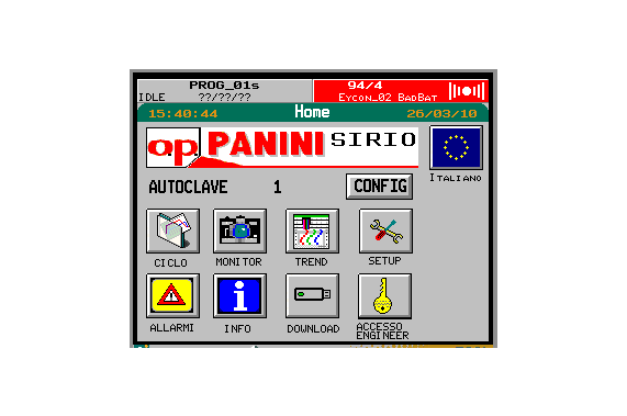 Retort for any type of product DUAL OP Panini