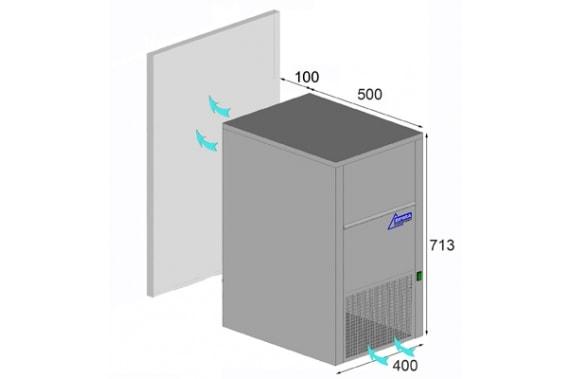 30 kg laboratory flake ice machine with 10kg integrated bin Ziegra