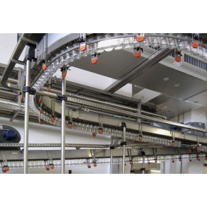 Air conveyors system for PET empty bottles UNI-TECH