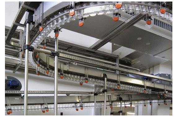 Air conveyors system for PET empty bottles UNI-TECH