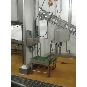 Fixed veterinary platform for cattle slaughter BLASAU