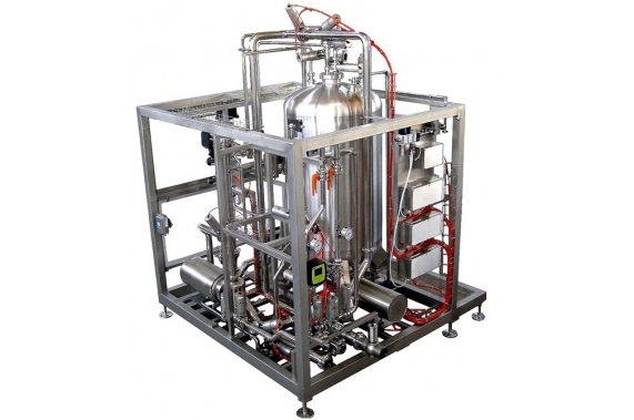 Single-station CIP steam-heating ozonized IDROINOX