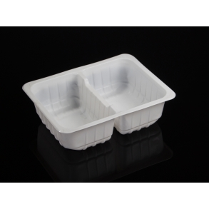 FOOD CONTAINER WITH 2 DIVISIONS