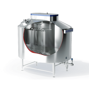 Vertical cheese vat for hard cheese   DONI®Double O Vat HC