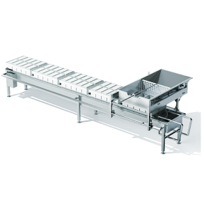 A module for the filling of moulds and block moulds with an integrated conveyor belt | DONI®Moulder