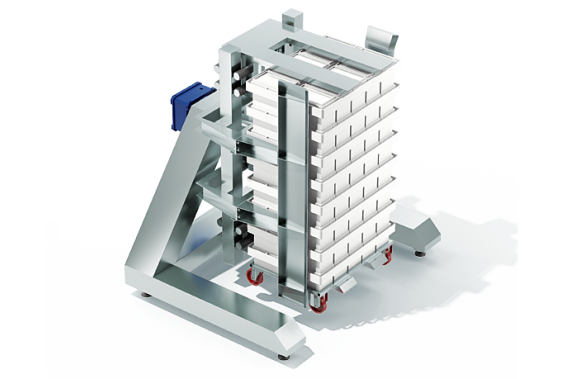 A rotator for stacks of full moulds | DONI®Rotomatik