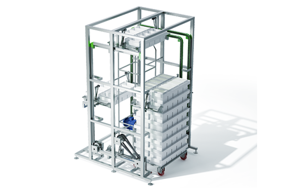 Module for the stacking of block moulds   DONI®Stifmat