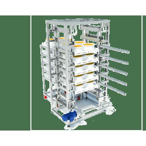 Ascending conveyor belt with positioning | DONI®Transup