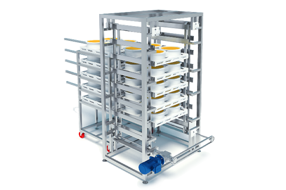 Descending conveyor belt with positioning   DONI®Transdown
